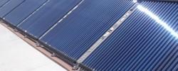 Sistema solar térmico para apoio a processo industrial
